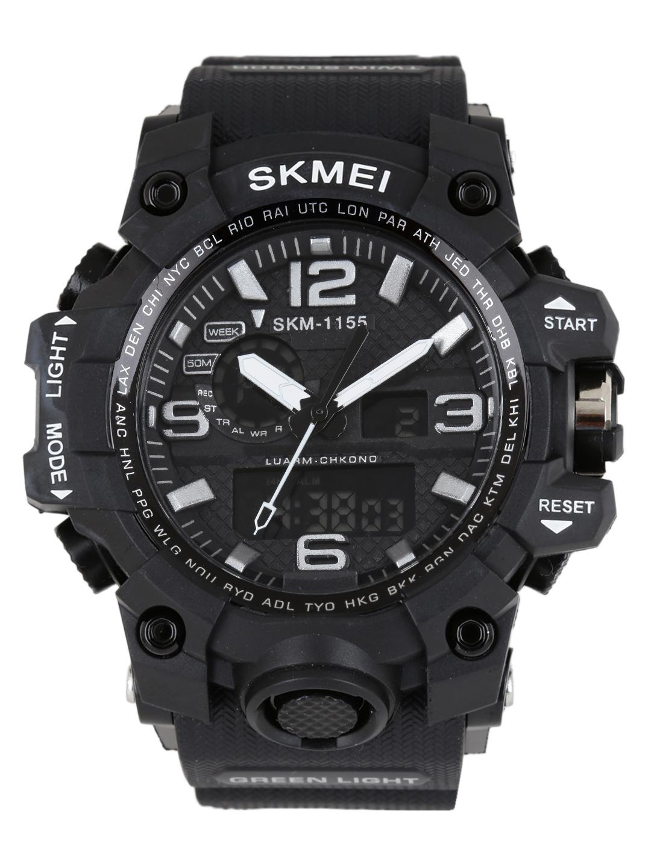 Skmei Men Black Analogue   Digital Watch 1155BLK