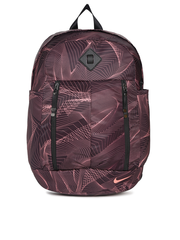 Buy Nike Women Burgundy Printed Backpack - Backpacks for Women ... 8b115e1bb0