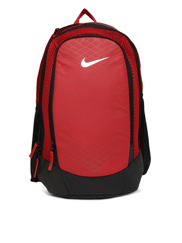 2fdf782faa Buy Nike Men Red   Black Colourblocked NK VPR SPEED BP Backpack - Backpacks  for Men 2012091