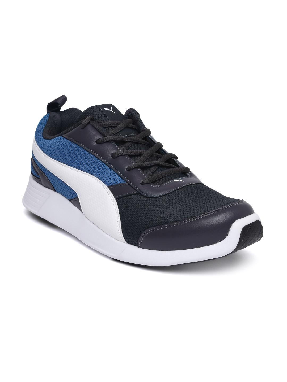 Buy Puma Men Charcoal Fettle Mesh Running Shoes - Sports Shoes for ... 984d6d8d7