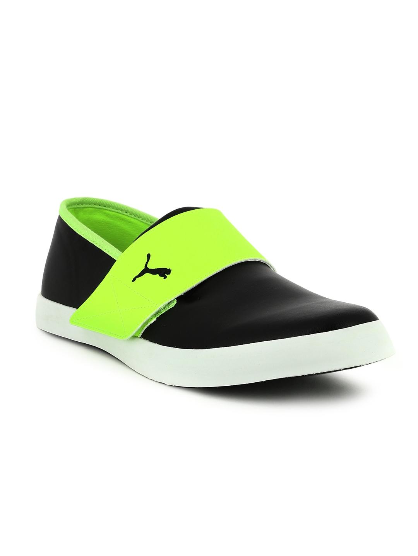 Puma Unisex Black   Fluorescent Green El Rey Milano II DP Sneakers