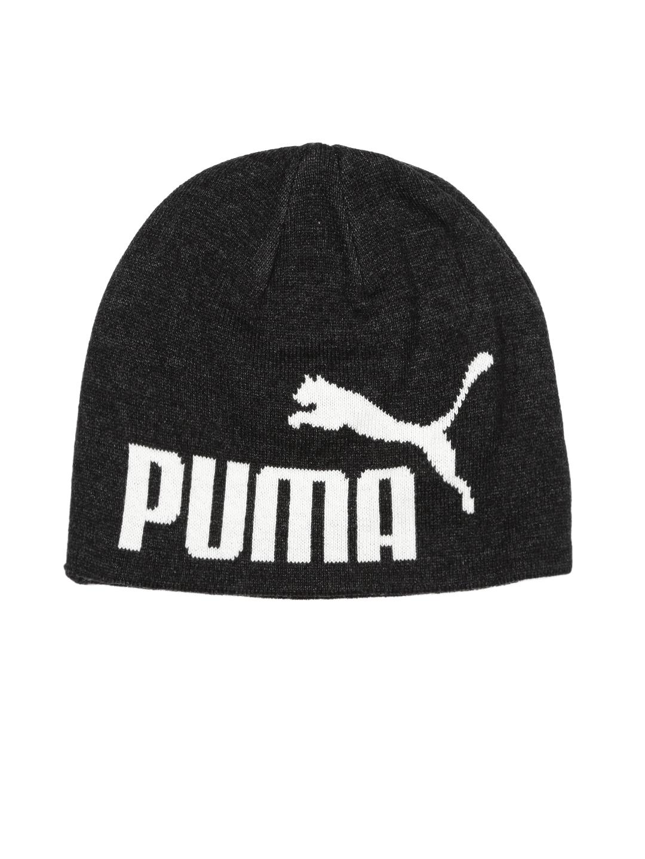 save off 9f879 b7061 Puma Unisex Charcoal Grey ESS Big Cat Beanie
