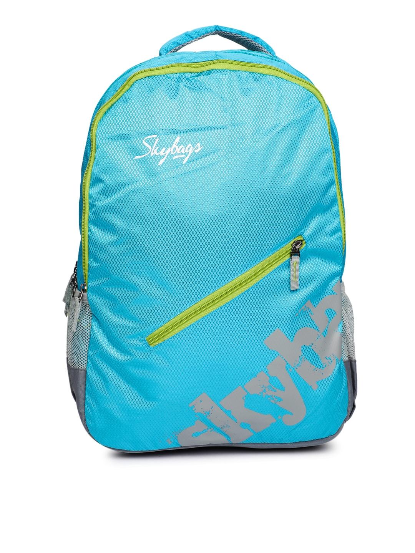 fbea90d80896 Buy Skybags Unisex Blue Brand Logo Backpack - Backpacks for Unisex ...