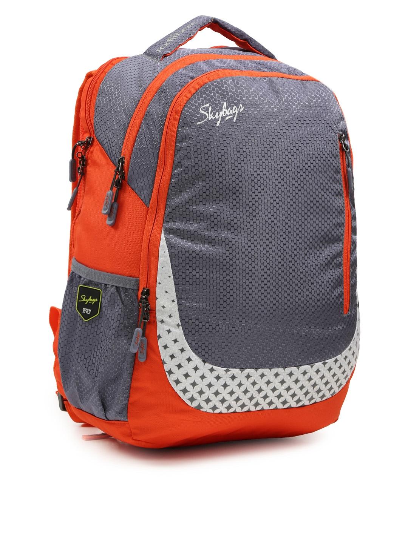 20738b2c0c Skybags Unisex Orange   Grey FOOTLOOSE BLITZ PLUS 02 Printed Laptop Backpack
