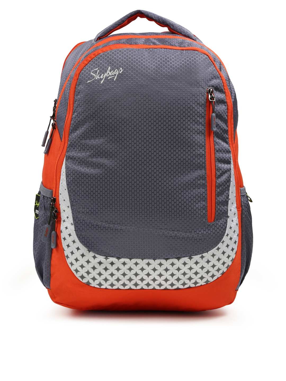 Skybags Unisex Orange   Grey FOOTLOOSE BLITZ PLUS 02 Printed Laptop Backpack