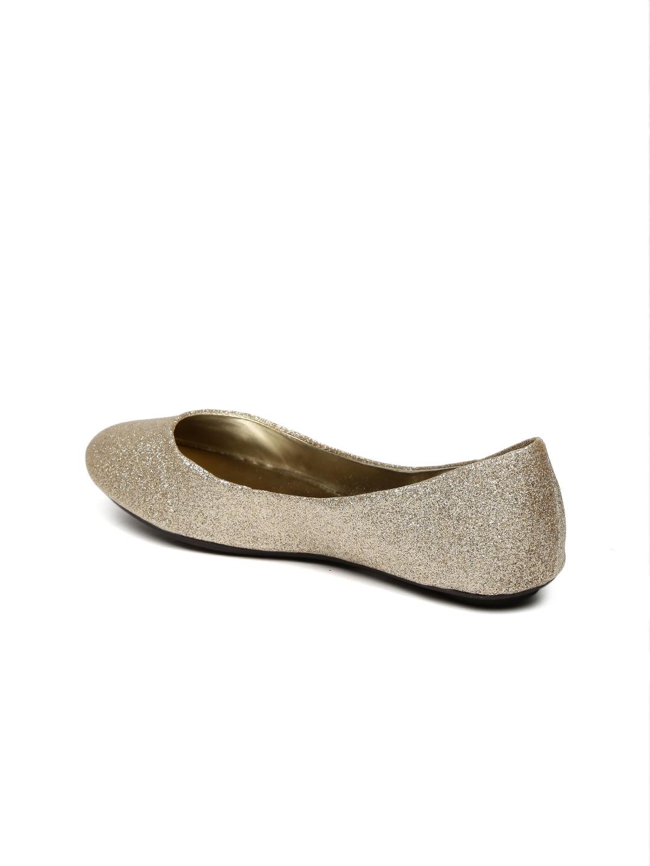 b0e9176c260 Buy Steve Madden Women Gold Toned Shimmer Ballerinas - Flats for ...