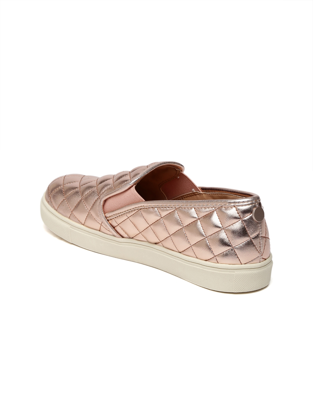 4ef48d67323 Buy Steve Madden Women Rose Gold Toned Slip On Sneakers - Casual ...