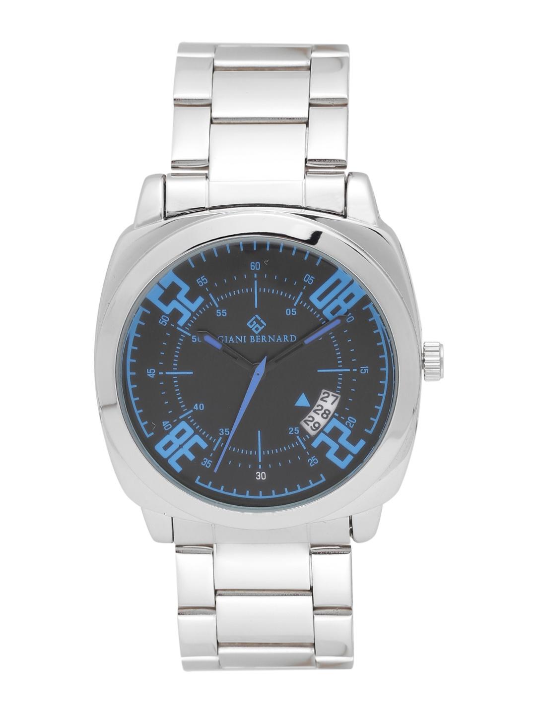 Giani Bernard Men Black   Blue Analogue Watch  GBM 01E