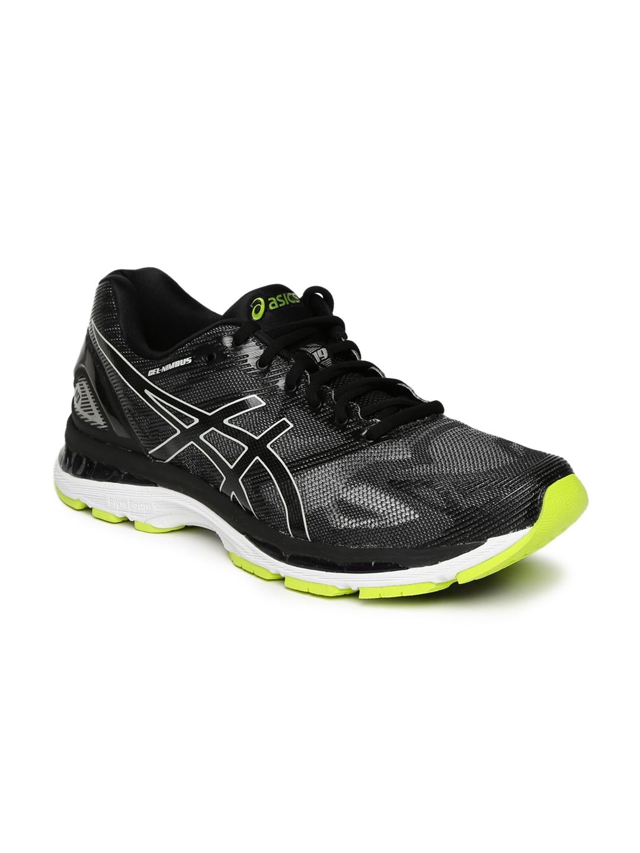 88132cbb16df Buy ASICS Men Black GEL NIMBUS 19 Running Shoes - Sports Shoes for ...