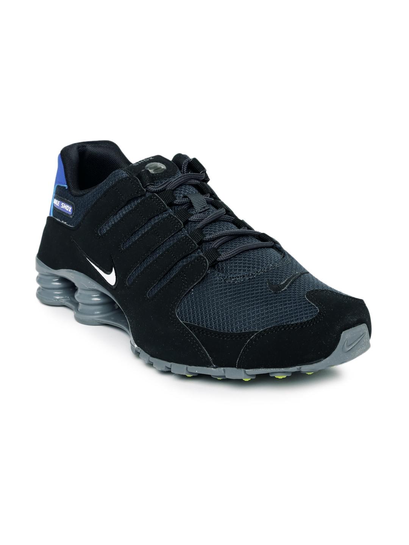 100% authentic f43c7 858ab Nike Men Black SHOX NZ SE Sneakers