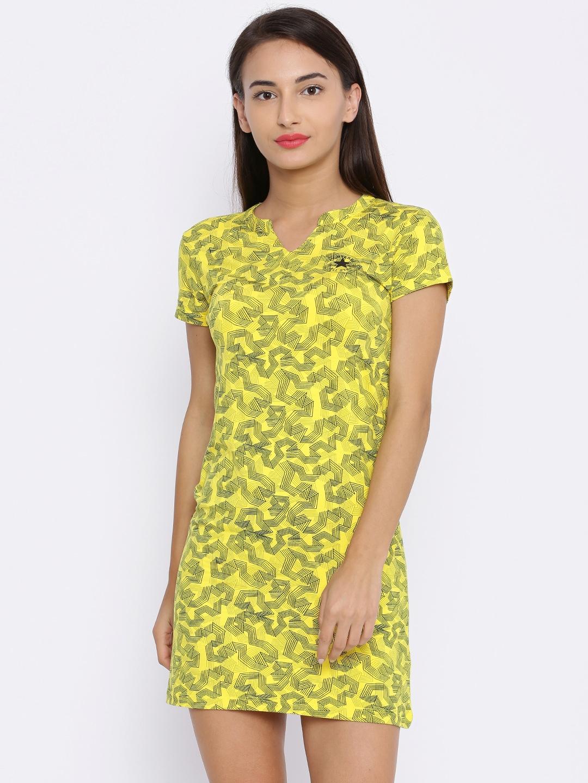 905ada332149 Buy Converse Women Yellow Printed Bodycon Dress - Dresses for Women ...