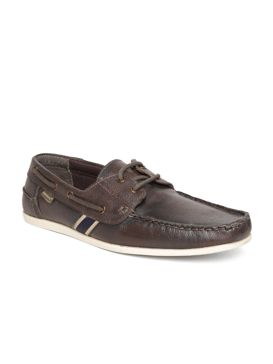 b8b7afd21a0 Buy Red Tape Men Coffee Brown Leather Boat Shoes - Casual Shoes for ...