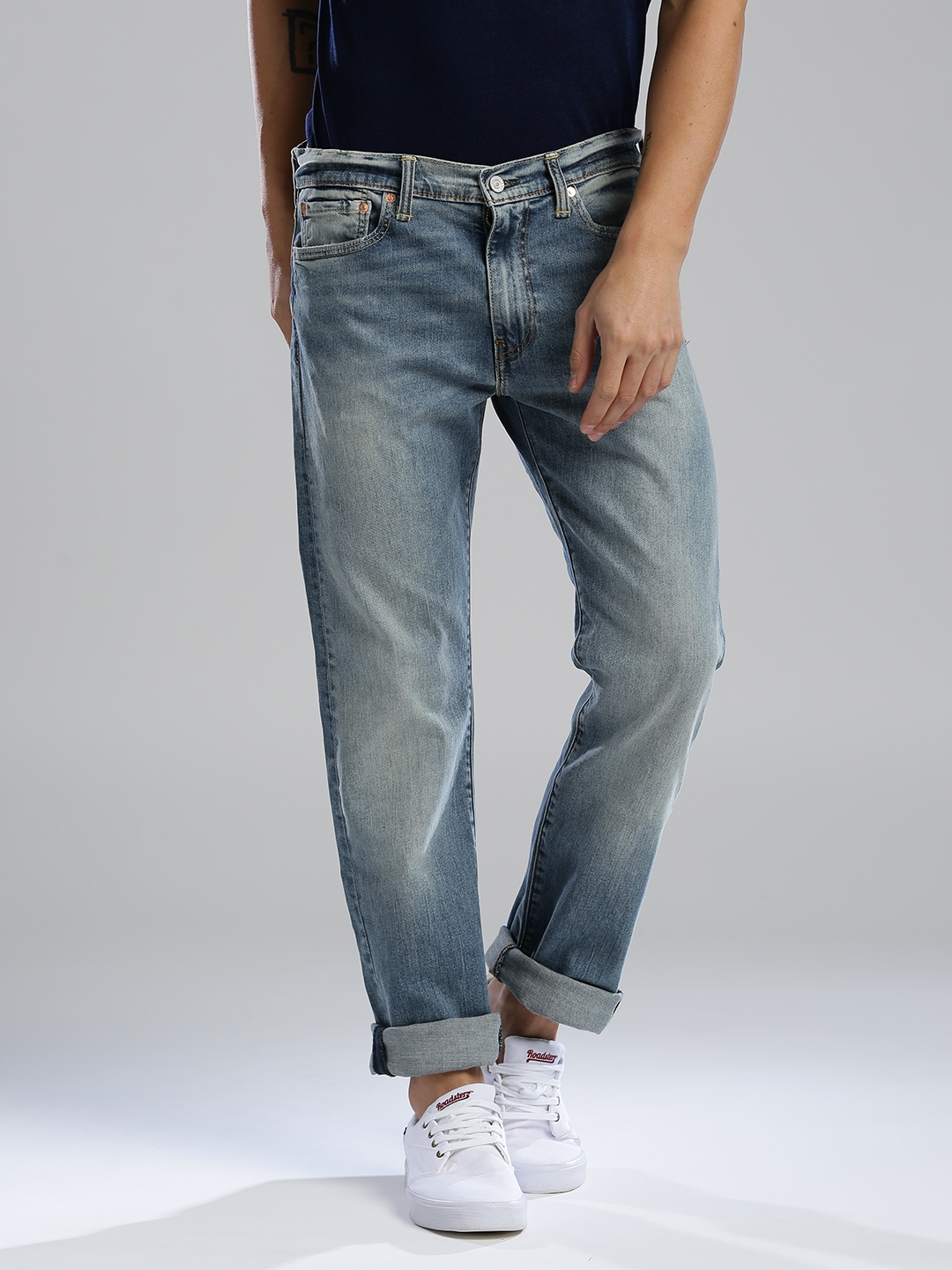 5addd426 Buy Levis Men Blue 513 Straight Fit Mid Rise Clean Look Jeans ...
