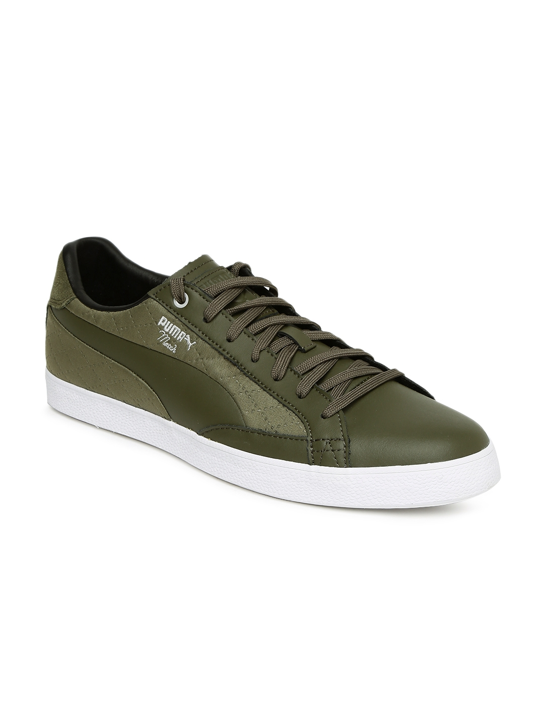 53ed29bbbeb Buy Puma Men Olive Green Match Vulc 2 Quilted Sneakers - Casual ...