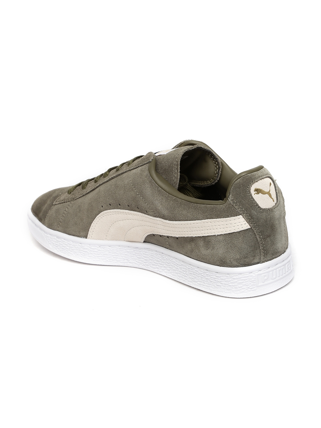 Buy Puma Men Olive Green Suede Classic + Sneakers - Casual Shoes for ... 4aef9f720