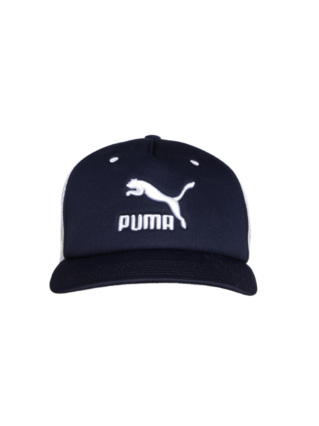 a98b1fa2b40 ... discount code for buy puma unisex white navy archive trucker cap caps  for unisex 2030602 myntra