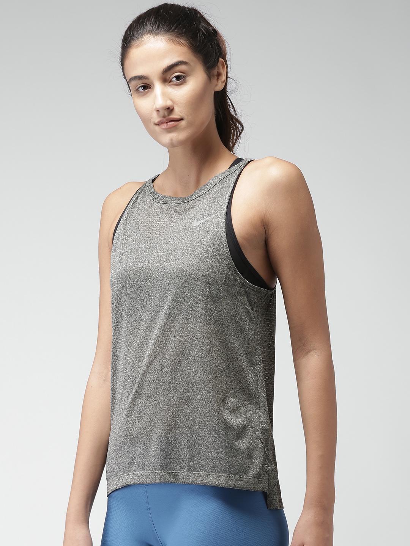 b516b37536ed7 Buy Nike Women Grey AS W NK BRTHE Tank Top - Tops for Women 2033141 ...