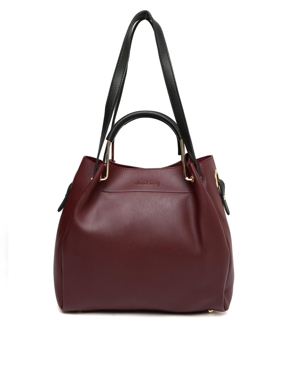 764bac9390d Buy DressBerry Burgundy Solid Shoulder Bag - Handbags for Women 2034454 |  Myntra