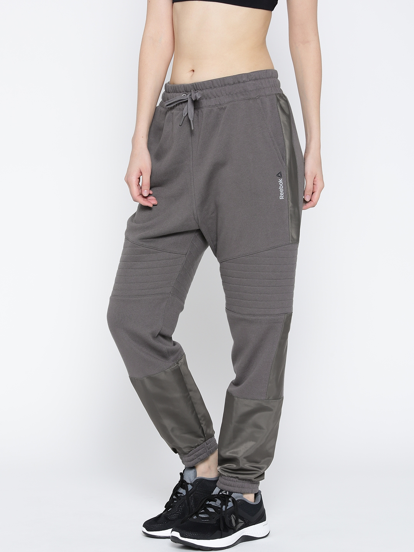 390d43446a9 Buy Reebok Grey Moto Joggers - Track Pants for Women 2036315