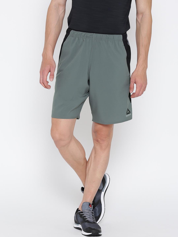 0a5abbf0a0e Buy Reebok Men Grey Solid WOR Training Shorts - Shorts for Men ...