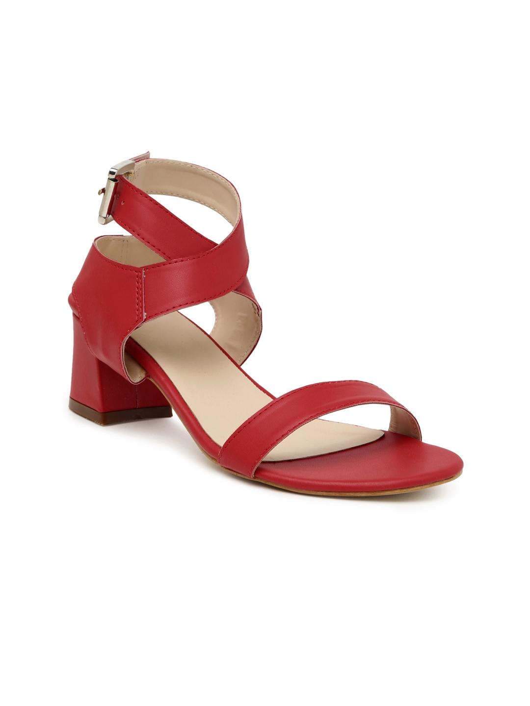 Buy Lavie Women Red Solid Heels - Heels