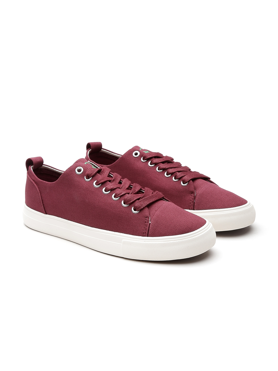 Buy United Colors Of Benetton Men Burgundy Sneakers Casual Shoes