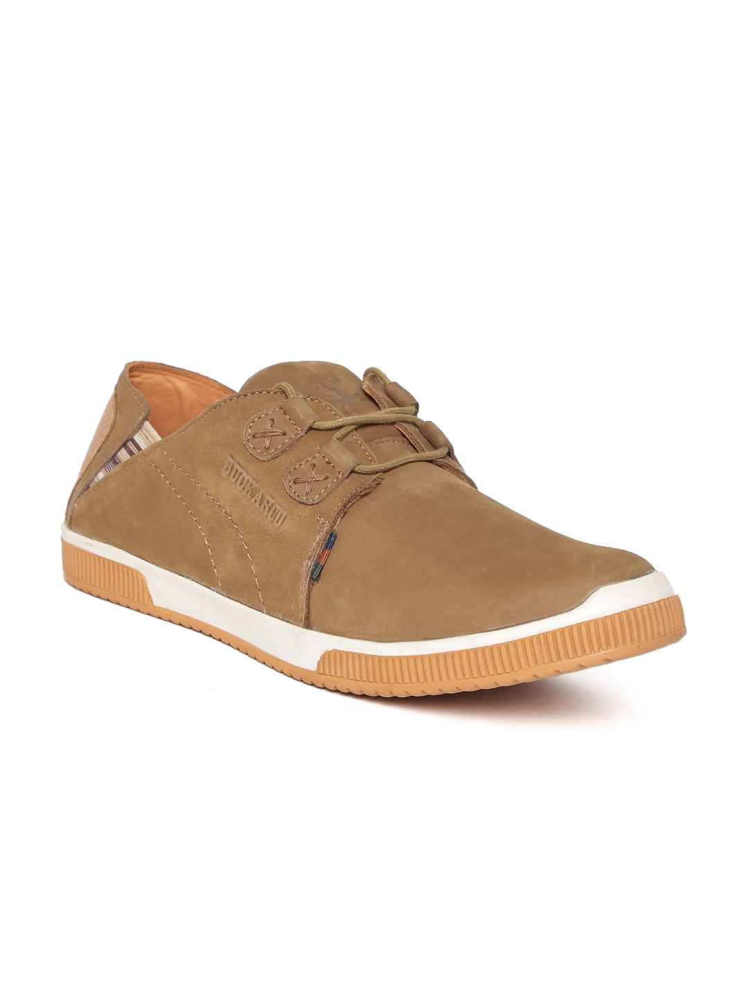 a7c0dbc3f34 Buy Buckaroo Men Brown James Leather Sneakers - Casual Shoes for Men ...