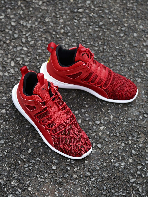 7ed97c5fbfc2 Buy Puma Men Red SF Evo Cat Mid Top Sneakers - Casual Shoes for Men ...
