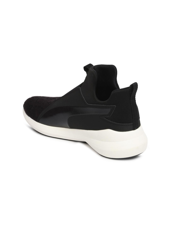 f7d376b27618d6 Buy Puma Women Black Solid Rebel VR Mid Top Slip On Sneakers ...