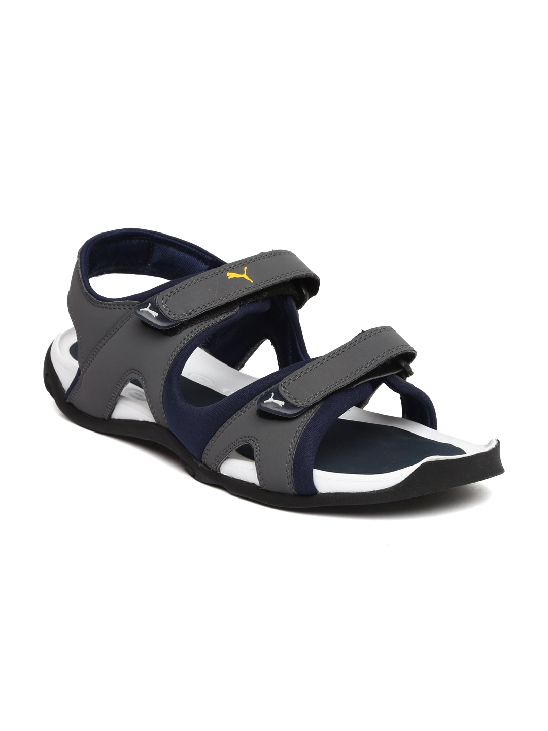 0701d26be283 Buy Puma Men Grey   Navy Jimmy Sports Sandals - Sports Sandals for Men  2041465