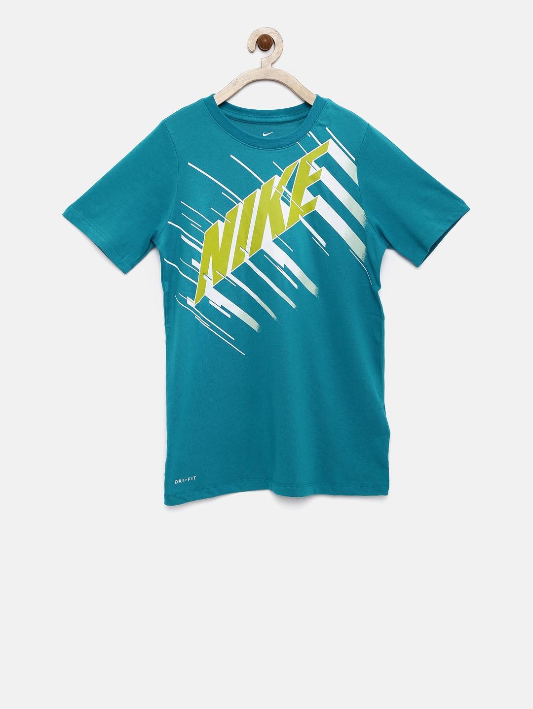 d0136548 Buy Nike Boys Teal Printed DRY TEE DF SPEED BLOCK Round Neck T Shirt ...