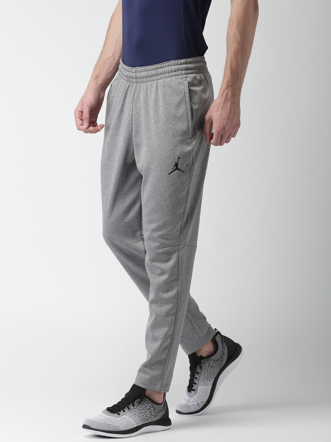 7ff0998b570450 Nike Jordan Grey Melange NBA JORDAN ALPHA THERMA 23 Training Track Pants