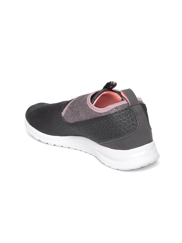 e83325054b1d Buy Reebok Women Charcoal Grey DMX LITE SLIP Walking Shoes - Sports ...