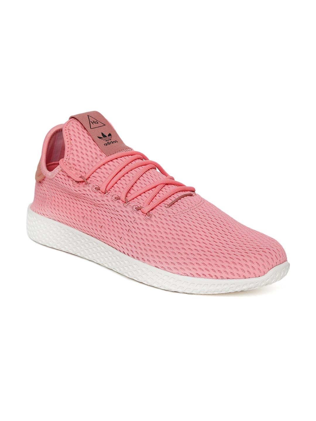super popular 57b53 15bdc ADIDAS Originals Men Pink Pharrell William Tennis HU Shoes