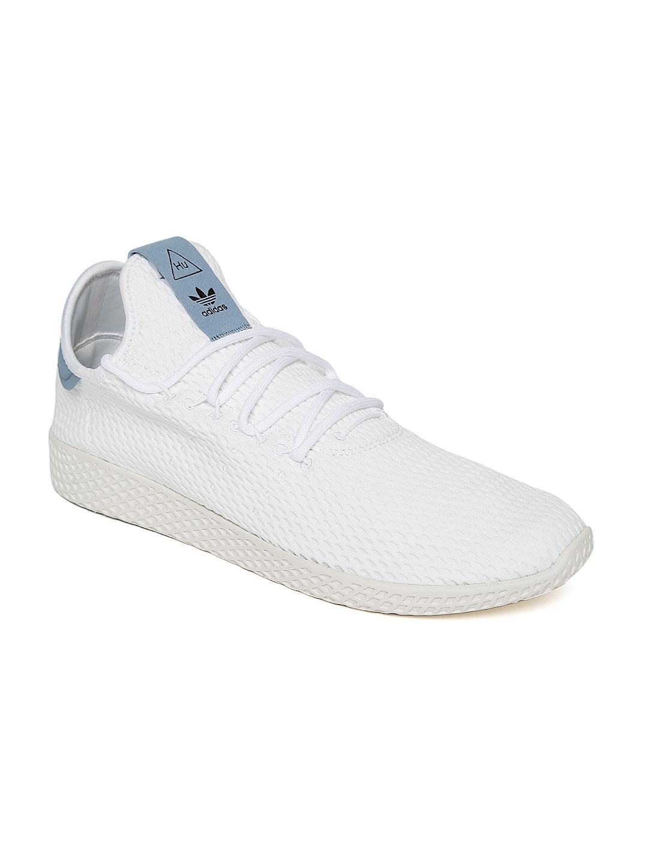 0e73f9b1f Buy ADIDAS Originals Men White Pharrell William Tennis HU Shoes - Casual  Shoes for Men 2043013 | Myntra