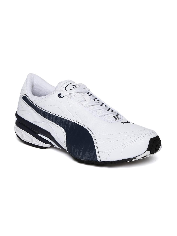 ce90cffa1934df Buy Puma Men White & Navy Tazon III DP Running Shoes - Sports Shoes ...
