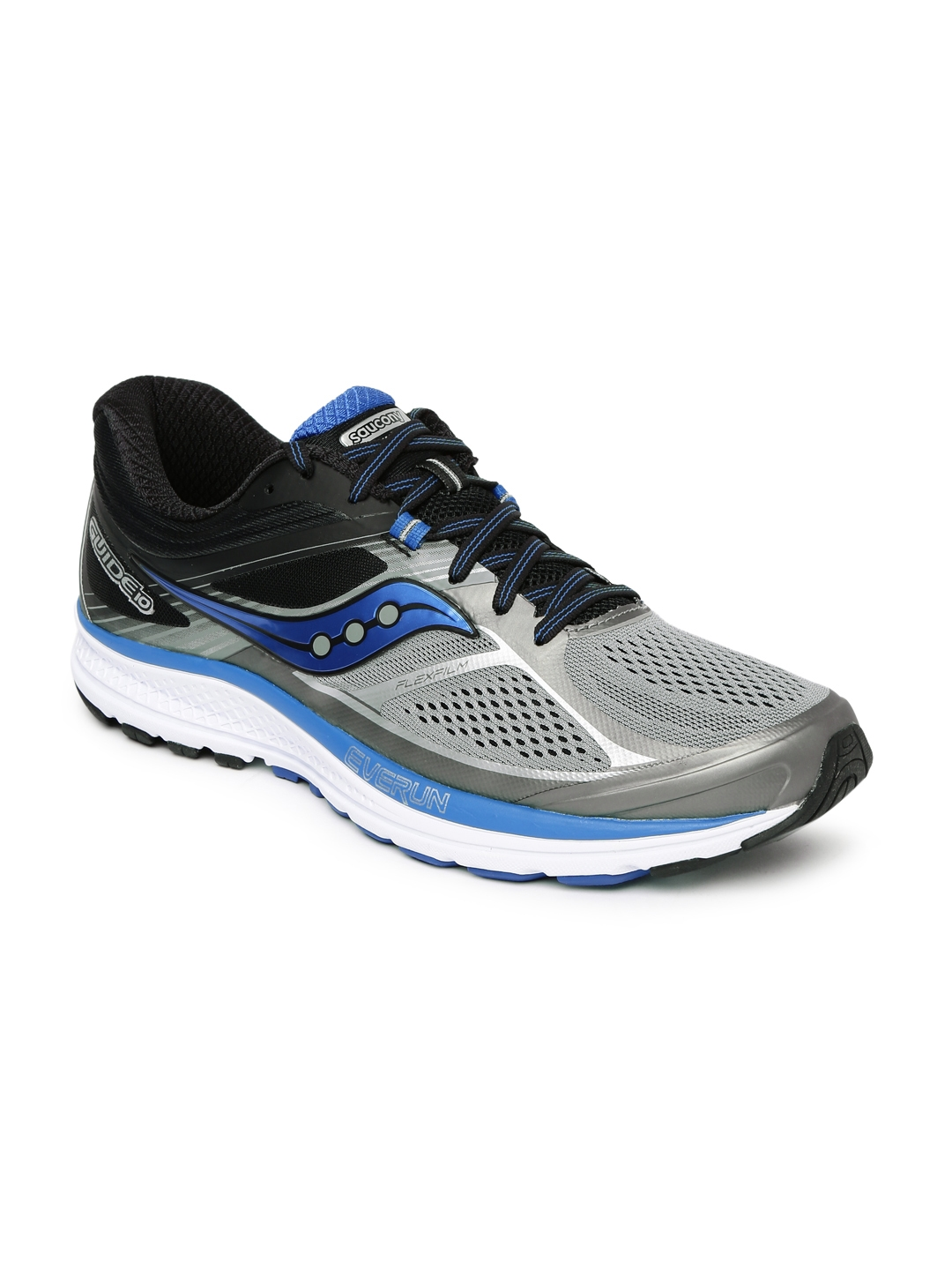 495a70cd Buy Saucony Men Grey & Black Guide 10 Running Shoes - Sports Shoes ...