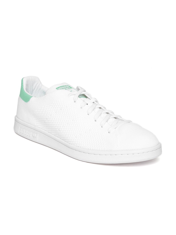 b7fff66fed4 Buy ADIDAS Originals Men White Stan Smith Prime Knit Sneakers ...