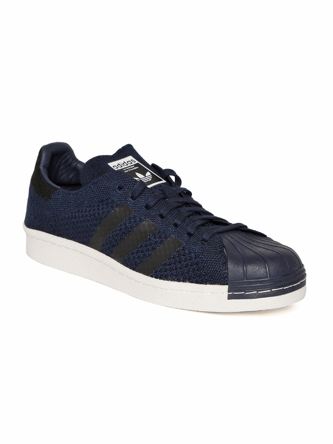 c43dca458 Buy ADIDAS Originals Men Navy SUPERSTAR 80S Primeknit Sneakers ...