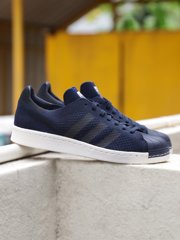 72dc33d86f562 Buy ADIDAS Originals Men Navy SUPERSTAR 80S Primeknit Sneakers ...