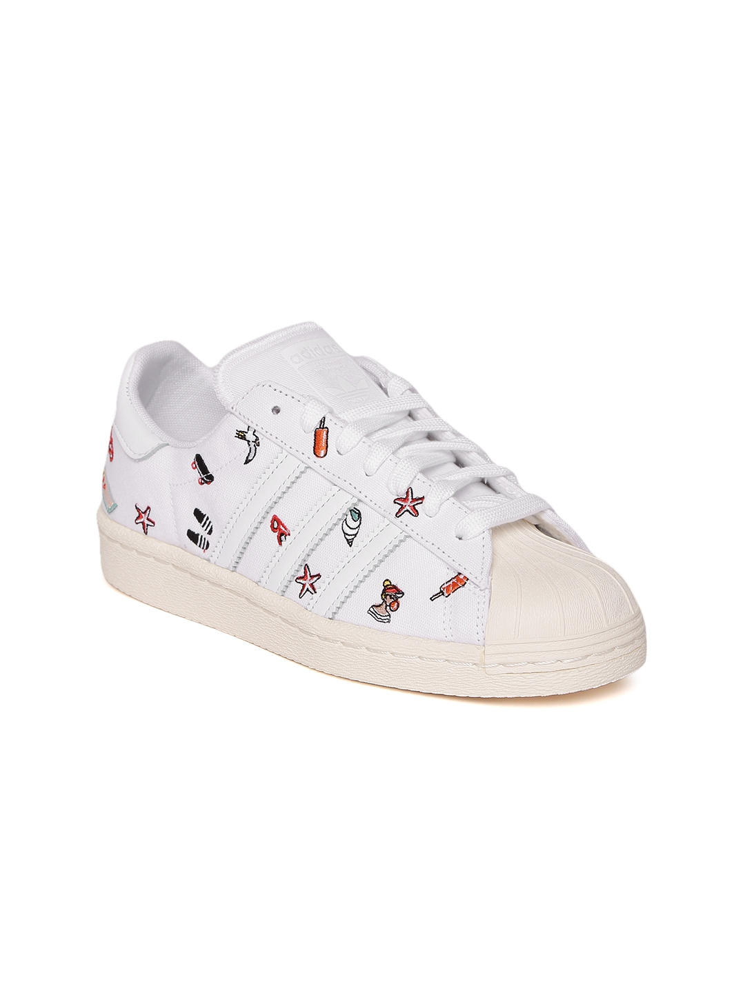 7e7942d97cf7 Buy ADIDAS Originals Women White Superstar 80S Embroidered Sneakers ...