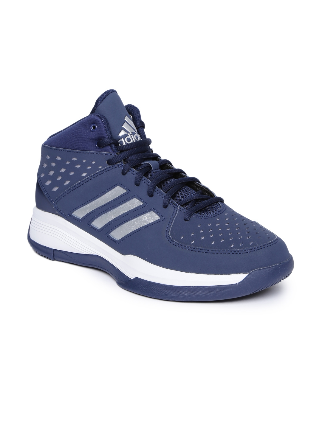 5f5ccc3f3ed4 ADIDAS Men Navy COURT FURY Mid-Top Basketball Shoes