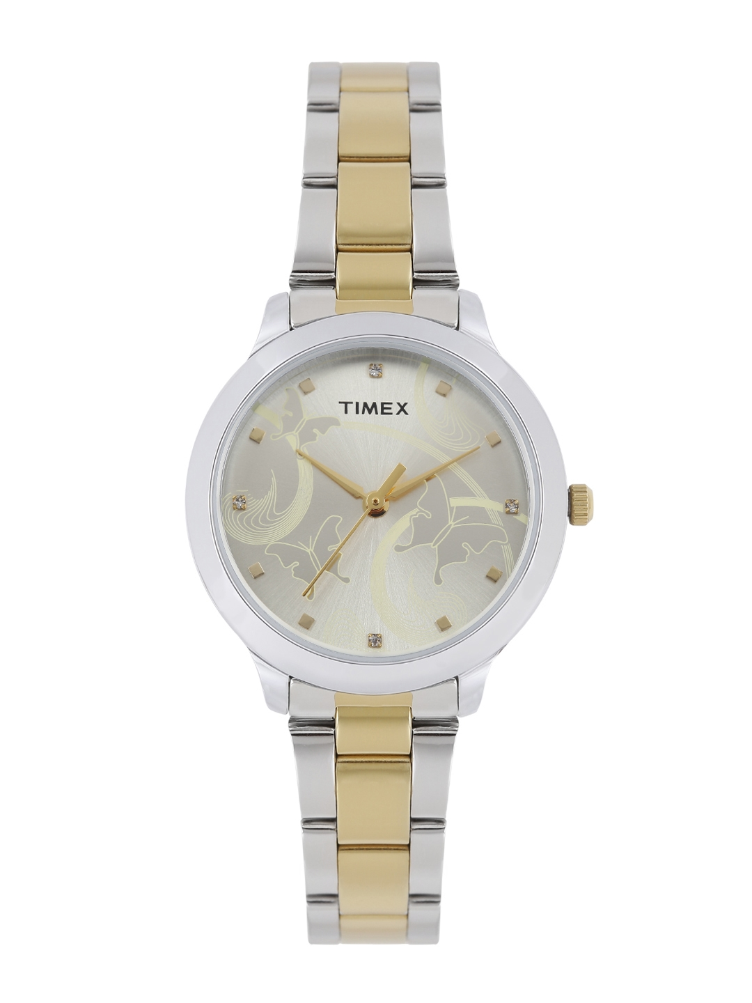 Timex Women Muted Gold Toned Analogue Watch TW000T608