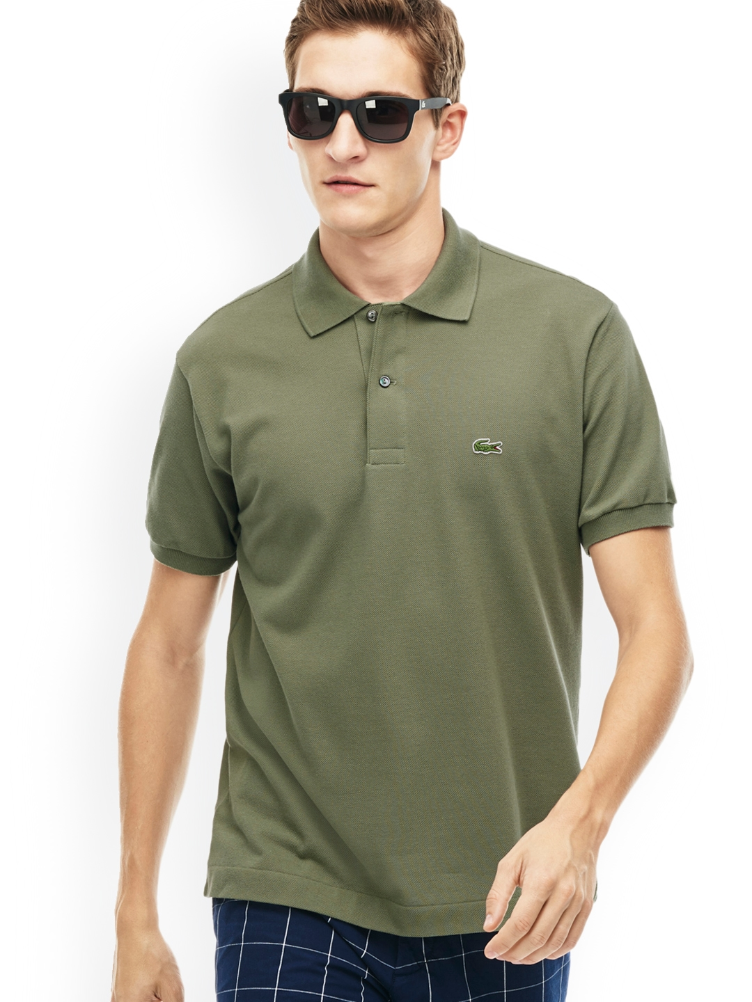 60e81ea95f16 Buy Lacoste Men Olive Green L.12.12 Polo - Tshirts for Men 2047872 ...