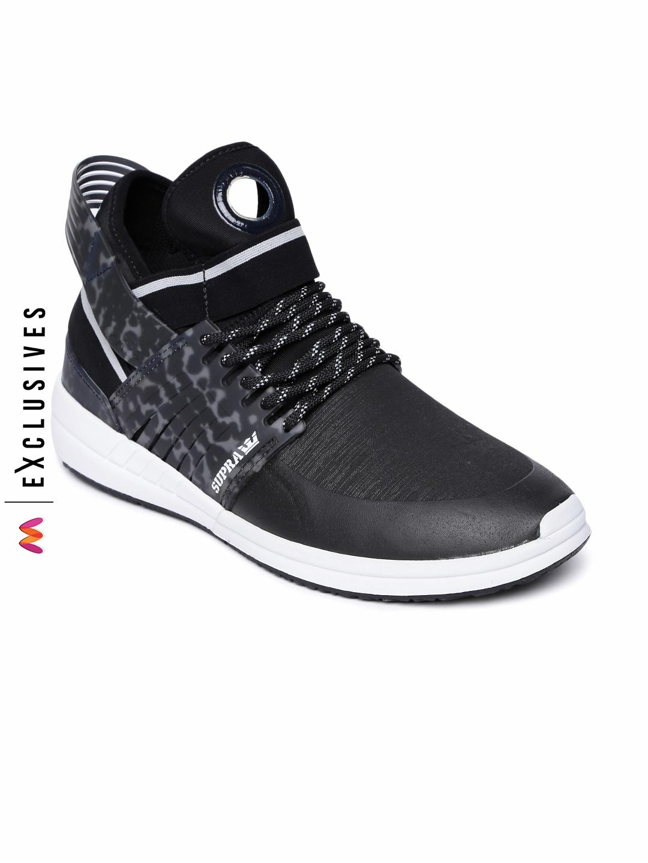 d5fc788ab4d Buy Supra Men Black Printed Skytop Sneakers - Casual Shoes for Men ...