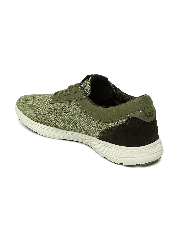 5fb7928ca4d8 Buy Supra Men Olive Green HAMMER RUN Sneakers - Casual Shoes for Men ...