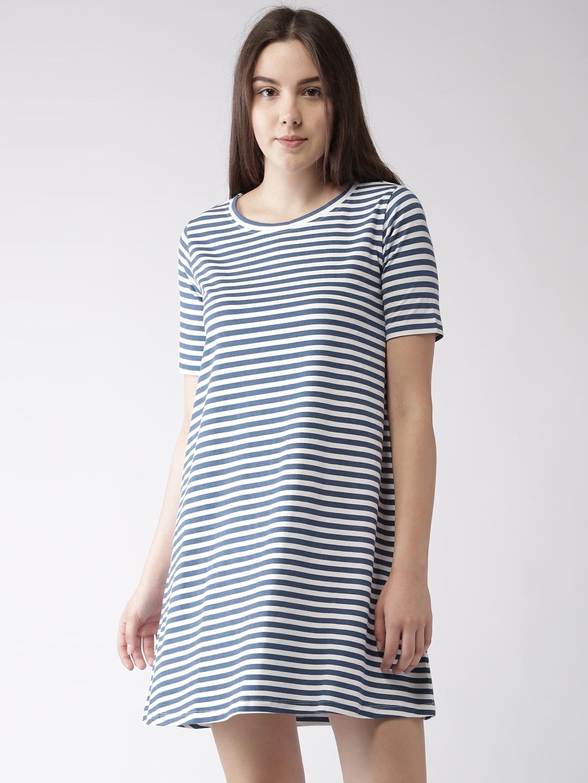 d1b1f10a89d9 Buy Mast   Harbour Women Navy   White Striped T Shirt Dress ...