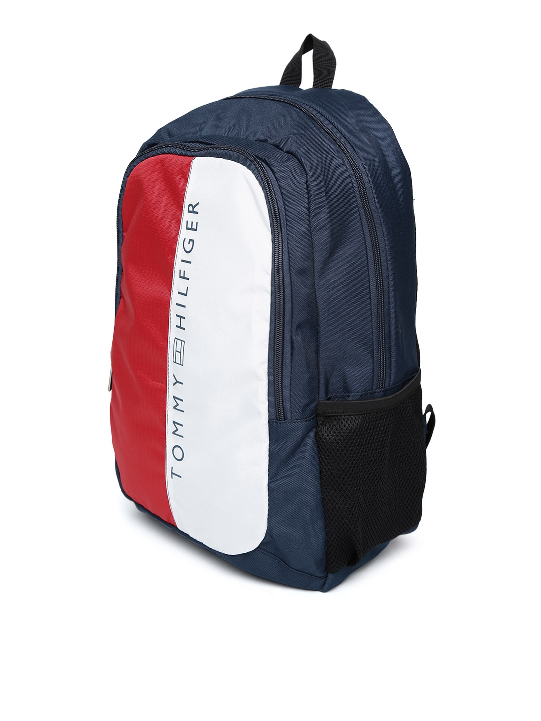 e8056dcf8 Buy Tommy Hilfiger Unisex Navy   Red Colourblocked Backpack ...