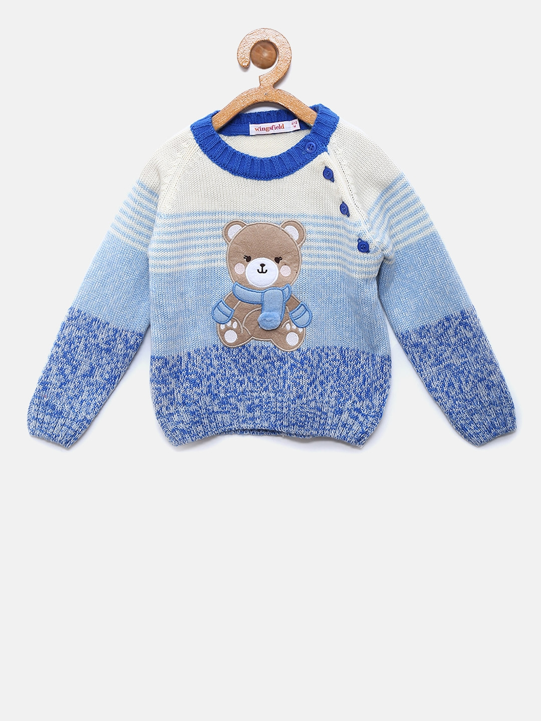 590c0dc7f Buy Wingsfield Boys Blue   Off White Striped Pullover - Sweaters for ...