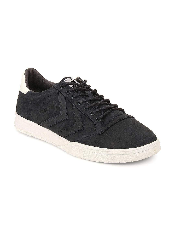 29fab32f Buy Hummel Unisex Navy Blue Leather Stadil Winter Low Sneakers ...